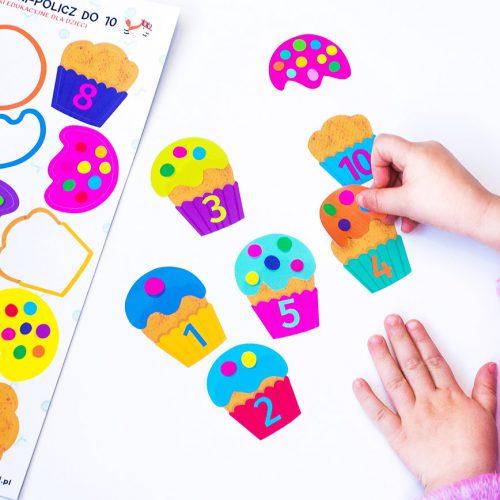 Kolorowe muffinki – policz do 10