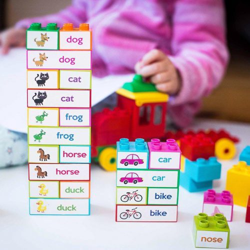 Learning words with blocks